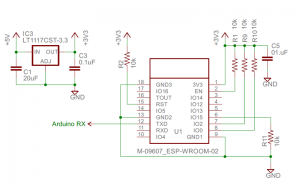 ESP-WROOM-02 ドータ回路図