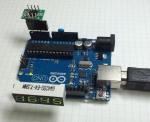 Arduino 7SEG 時計全体